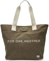 TOMS - Olive For One Another Transport Tote Bag - Lyst