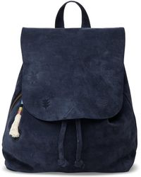e258142337b9 TOMS - Deep Ocean Suede Embroidered Poet Backpack - Lyst