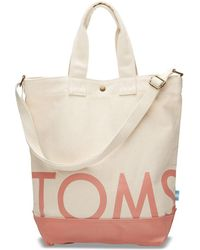 TOMS - Natural Canyon Clay Compass Tote - Lyst