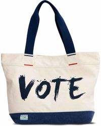 TOMS - Transport Navy Vote Tote - Lyst