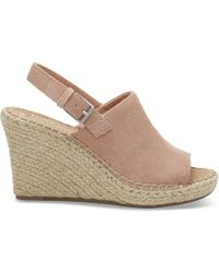 TOMS - Bloom Suede Women's Monica Wedges - Lyst