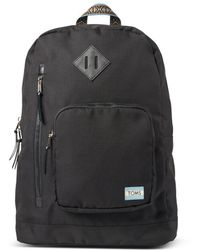 TOMS Black Solid Ripstop High Road Backpack