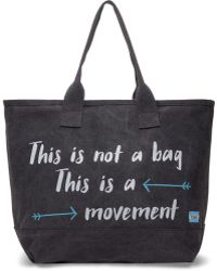 TOMS - Slate This Is Not A Bag This Is A Movement All Day Tote - Lyst