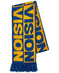 TOPMAN - Vision Street Wear Blue And Yellow Football Scarf - Lyst