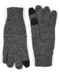TOPMAN - Grey Salt And Pepper Touch Screen Glove - Lyst