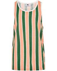 TOPMAN - Green Striped Vest - Lyst