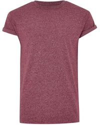 TOPMAN - Burgundy Fleck Muscle T-shirt - Lyst