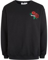 TOPMAN - Black Hope/rose Sweatshirt - Lyst