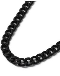 TOPMAN - Black Rubberised Chain Choker* - Lyst