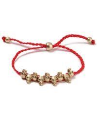 TOPMAN - Red Skull Bracelet - Lyst