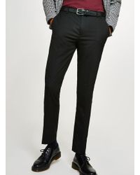 TOPMAN - Black Skinny Fit Smart Trouser - Lyst