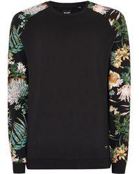 TOPMAN - Only & Sons Black Floral Sweatshirt - Lyst