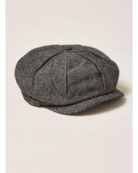 TOPMAN - Gray Baker Boy Cap - Lyst