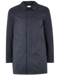 SELECTED - Navy Trench Coat - Lyst