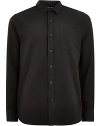 Topman | Black Taping Shirt | Lyst