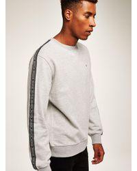 Antioch - Grey Marl Taping Sweatshirt - Lyst
