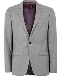 TOPMAN - Grey Marl Skinny Fit Suit Jacket - Lyst