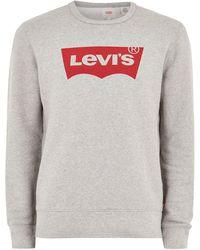 TOPMAN - Levi's Grey Sweatshirt - Lyst
