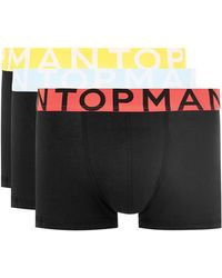 TOPMAN - Black With Neon Trunks 3 Pack - Lyst