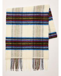 TOPMAN - And Multi Check Blanket Scarf - Lyst