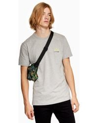 TOPMAN - Marl 'hyke' T-shirt - Lyst