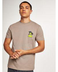 TOPMAN - Brown 'venice' T-shirt - Lyst