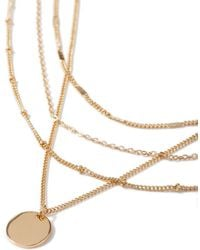 TOPMAN - Gold Multirow Necklace - Lyst
