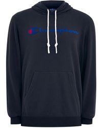 TOPMAN - Champion Navy 'corporate' Hoodie - Lyst