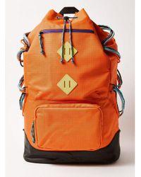 TOPMAN - Orange Backpack - Lyst