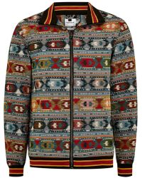 TOPMAN - Tapestry Taping Long Sleeve Overshirt - Lyst