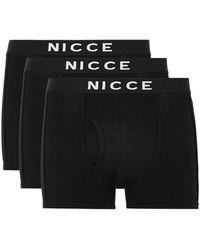 Nicce London - Black Trunks 3 Pack - Lyst
