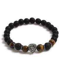TOPMAN - Lion Beaded Bracelet - Lyst