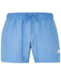 TOPMAN - Blue Stripe Swim Short - Lyst