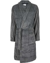 CALVIN KLEIN 205W39NYC - Grey Dressing Gown - Lyst