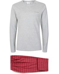 CALVIN KLEIN 205W39NYC - Red Check Pyjama Set - Lyst