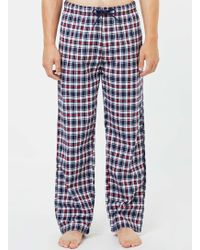 TOMS - Navy And Red Check Pyjama Bot - Lyst