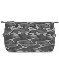 TOPMAN - Grey Camo Washbag - Lyst
