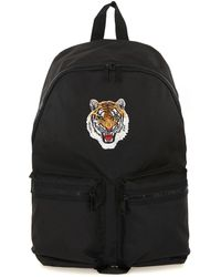 TOPMAN - Tiger Patch Black Backpack - Lyst