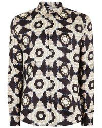 TOPMAN - Premium Printed Long Sleeve Shirt - Lyst