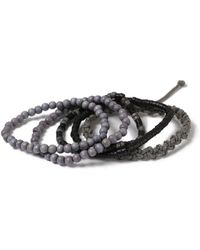 TOPMAN - Gray Bracelet Pack - Lyst
