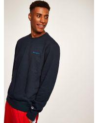 TOPMAN - Champion Navy Sweatshirt - Lyst