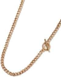 TOPMAN - Gold T Bar Necklacee* - Lyst