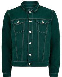 TOPMAN - Contrast Stitch Denim Jacket - Lyst