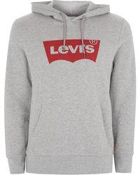 TOPMAN - Levi's Grey Logo Hoodie - Lyst