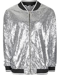 Jaded - Sequin Bomber Jacket - Lyst