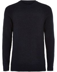 SELECTED - High Neck Knitted Jumper - Lyst