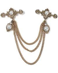 TOPMAN - Pearl Collar Tips - Lyst