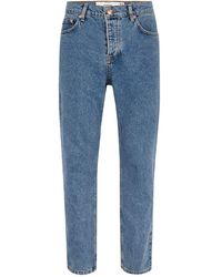 TOPMAN - Mid Wash Rigid Tapered Jean - Lyst