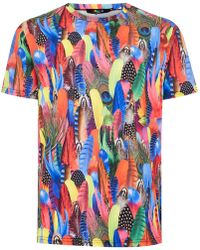 Jaded - Feather Print T-shirt - Lyst