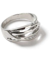 TOPMAN - Silver Look Cut Out Band Ring* - Lyst